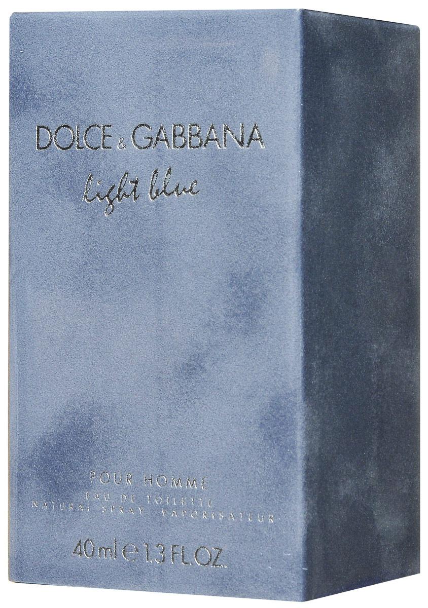 Dolce&Gabbana Туалетная вода Light Blue Pour Homme, мужская, 40 мл