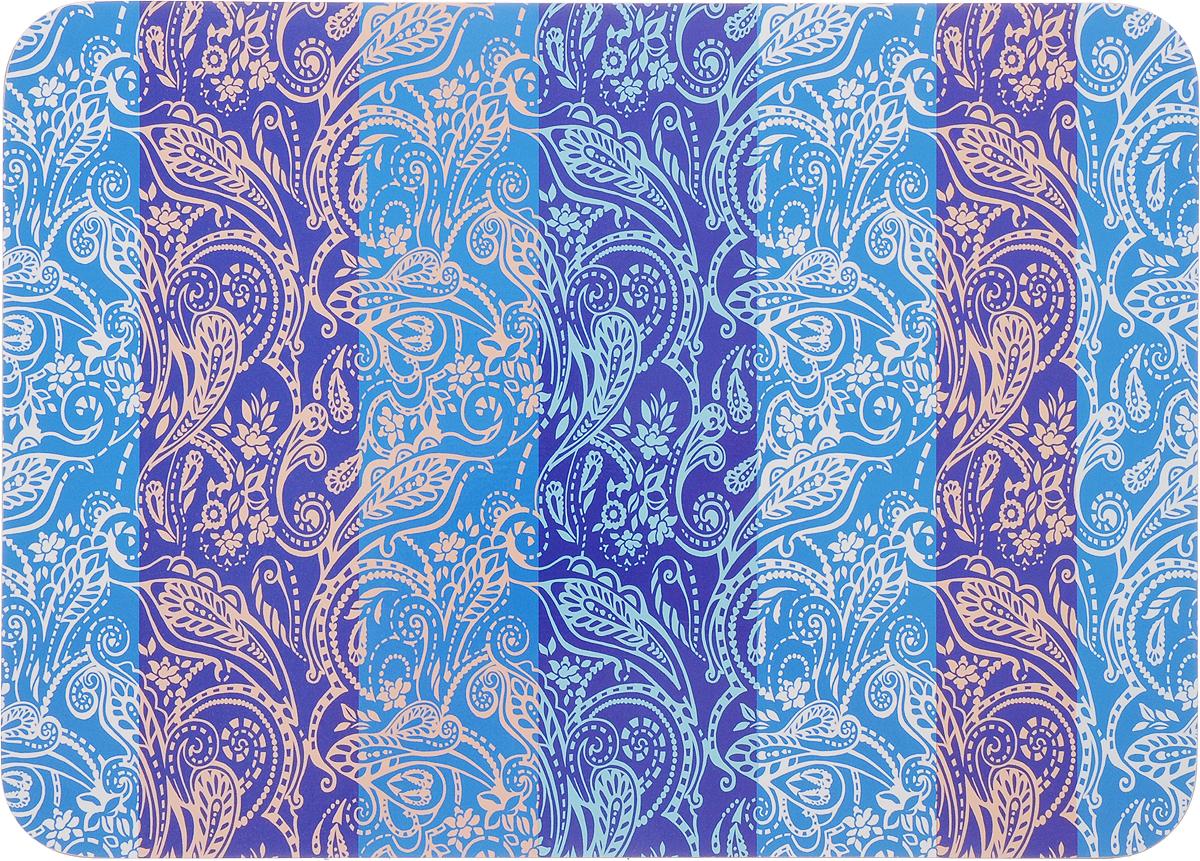 Подставка под горячее Home Queen Узор, цвет: синий, белый, 21 х 29 см подставки для ванны bebe jou подставка металлическая под ванночку