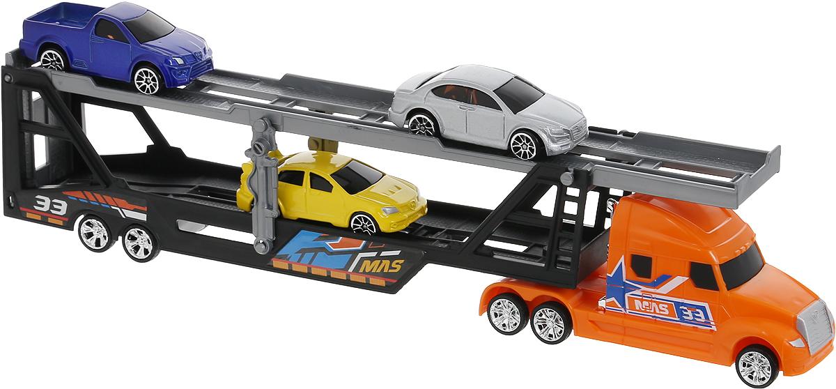 MotorMax Набор машинок Car Transporter машинки motormax машинка колл��кционная audi q5