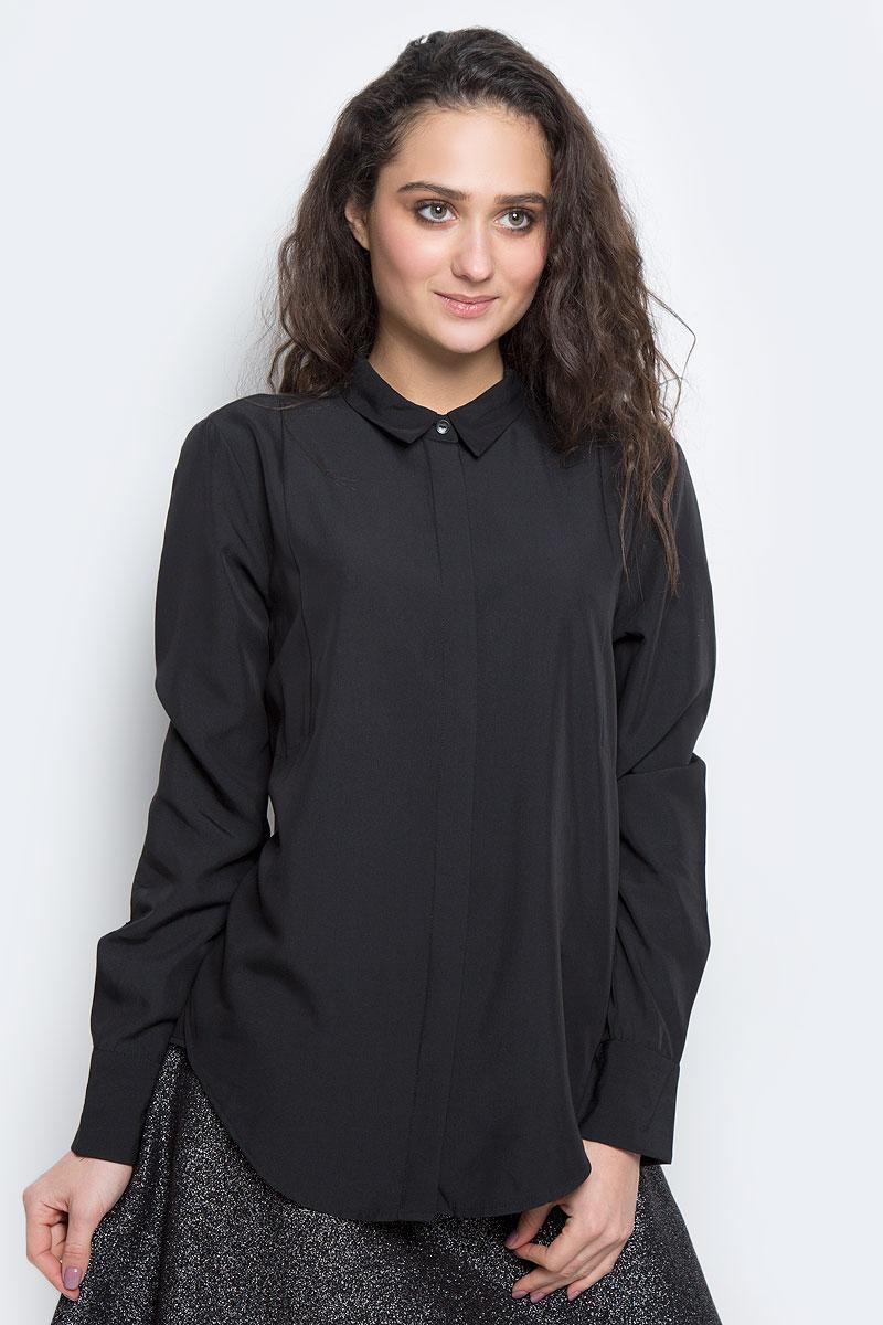 Блузка женская Tom Tailor Contemporary, цвет: черный. 2032596.00.75_2999. Размер 38 (44) блузка женская tom tailor contemporary цвет черный 2032979 01 75 2999 размер 36 42