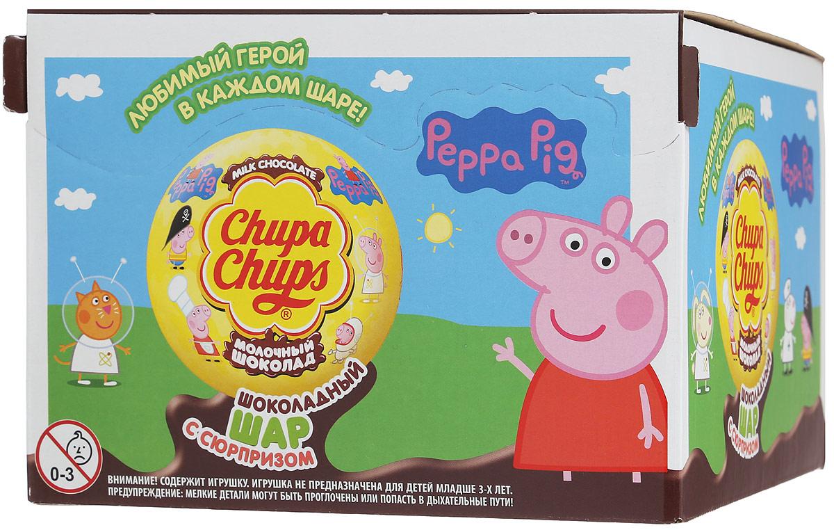 Chupa Chups Свинка Пеппа молочный шоколад, 18 штук по 20 г жевательный мармелад chupa chups мармеладная пицца