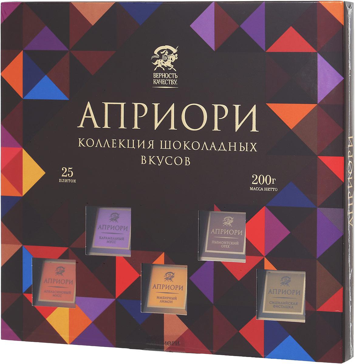 Априори ассорти шоколада с начинками, 200 г mentos ассорти жевательное драже 3 шт по 37 г