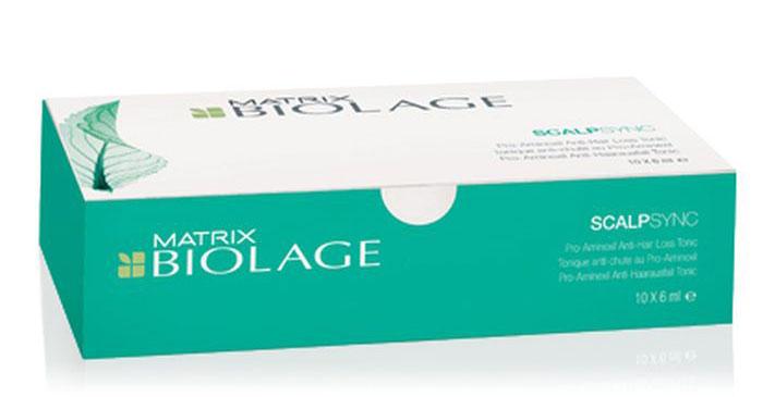 Matrix Biolage Scalpsync набор ампул против выпадения волос 10 х 6 млURU02587Тоник Biolage SCALPSYNC™ (Скалпсинк) укрепляет корни волос, продлевая жизненный цикл волос.Уменьшает выпадение волос до 5%* после 6 недель использования.- Питает кожу головы, помогая продлить жизненный цикл волоса- Придаёт волосам здоровый вид и ощущение свежести.*Клинические исследования действия тоника в сравнении с плацебо на 130 участниках в течение 6 недель.