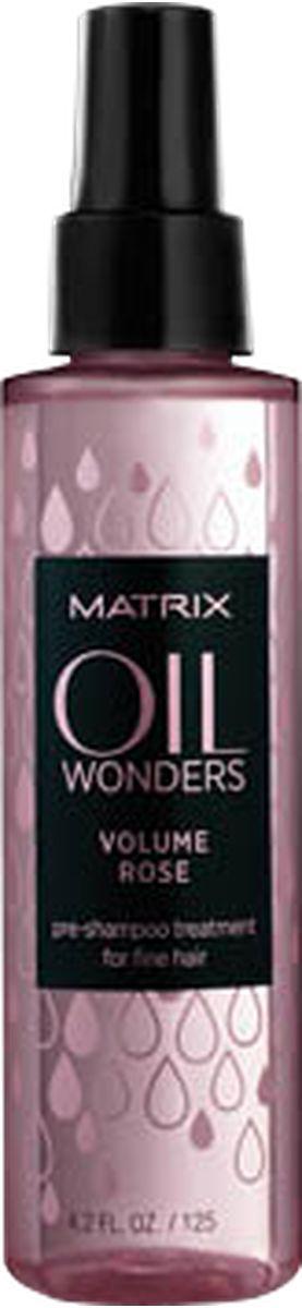 Matrix Oil Wonders Volume Rose Легкий пре-шампунь для ежедневного ухода, 125 млP1191100Глубокий еженедельный уходOil Wonders Volume Rose (ОИЛ ВАНДЕРС ВОЛЬЮМ РОУЗ) для использования перед применением шампуня ОИЛ ВАНДЕРС ВОЛЬЮМ РОУЗ обеспечивает направленное питание поврежденных участков волос для помощи в сокращении их ломкости.
