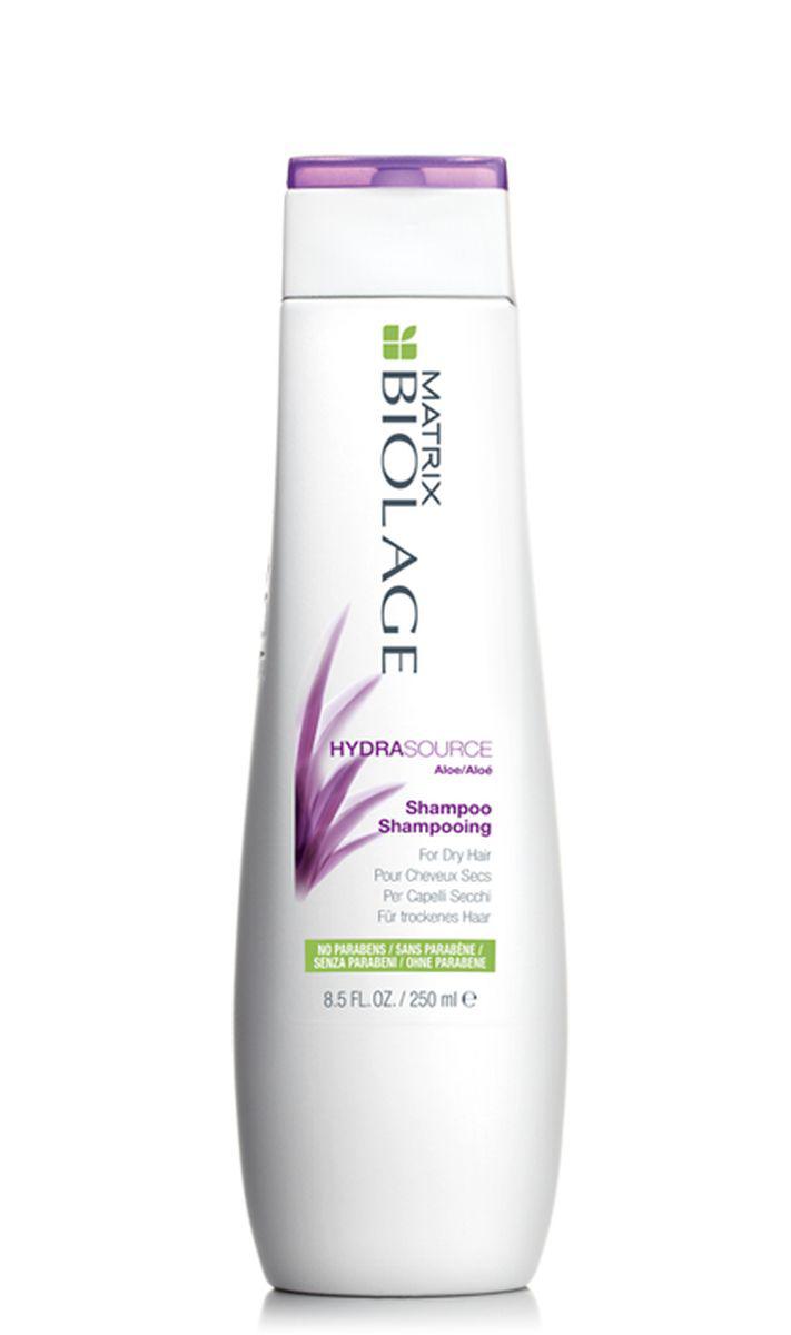 Matrix Biolage Hydrasource Шампунь 250млE0956600Сухие волосы склонны к ломкости и часто выглядят тускло и безжизненно. Шампунь Biolage HYDRASOURCE™ (ГидраСурс) с экстрактом алоэ питает волосы, помогая оптимизировать их гидробаланс, тем самым возвращая им здоровый вид. Волосы в 15 раз* более увлажненные после первого использования.- Облегчает расчесывание и делает волосы более послушными- Формула без парабенов- Подходит для окрашенных волос.* При использовании системы из шампуня, кондиционера и несмываемого спрея-вуаль ГИДРАСУРС по сравнению с шампунем без кондиционирующих свойств.