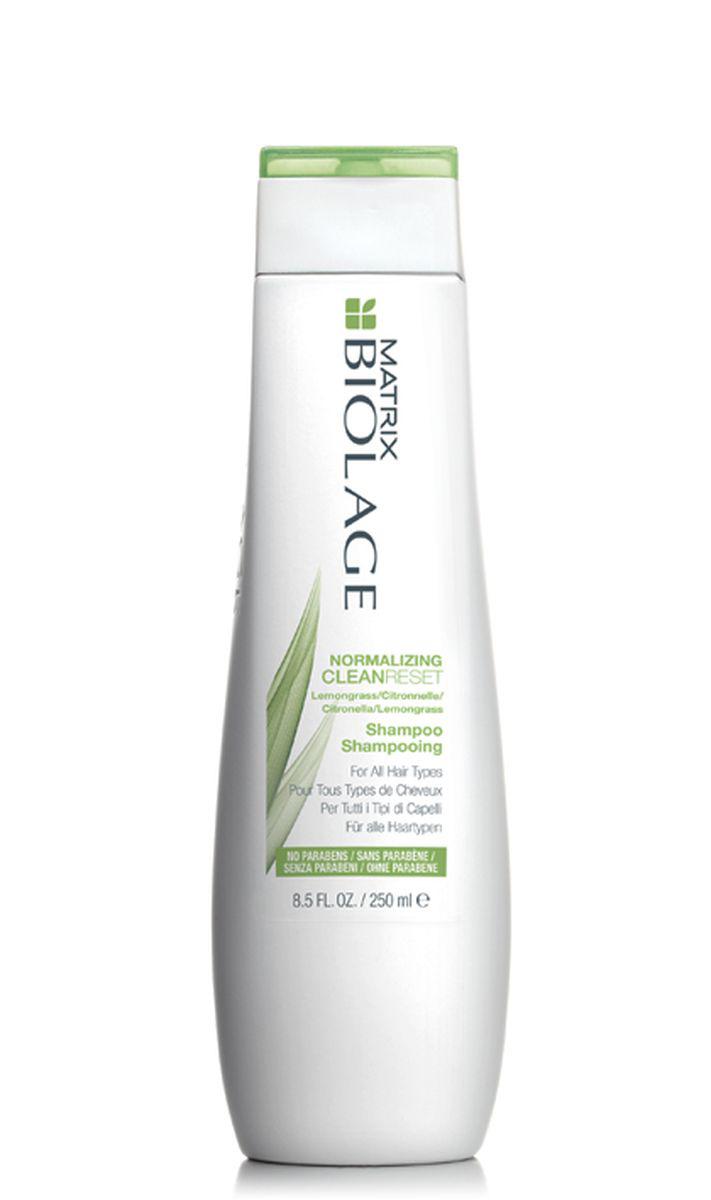 Matrix Biolage Scalpsync нормализующий шампунь 250 млE0957501Вдохновлённый тонизирующими свойствами лимонного сорго, нормализующий шампуньBiolage CLEANRESET™ (Клинрисэт) для всех типов волос интенсивно очищает волосы, не иссушая их.- Интенсивно очищает волосы- Нормализует гидролипидный баланс жирной и склонной к жирности кожи головы- Очищает волосы от хлора бассейна- Формула без парабенов- Подходит для окрашенных волос