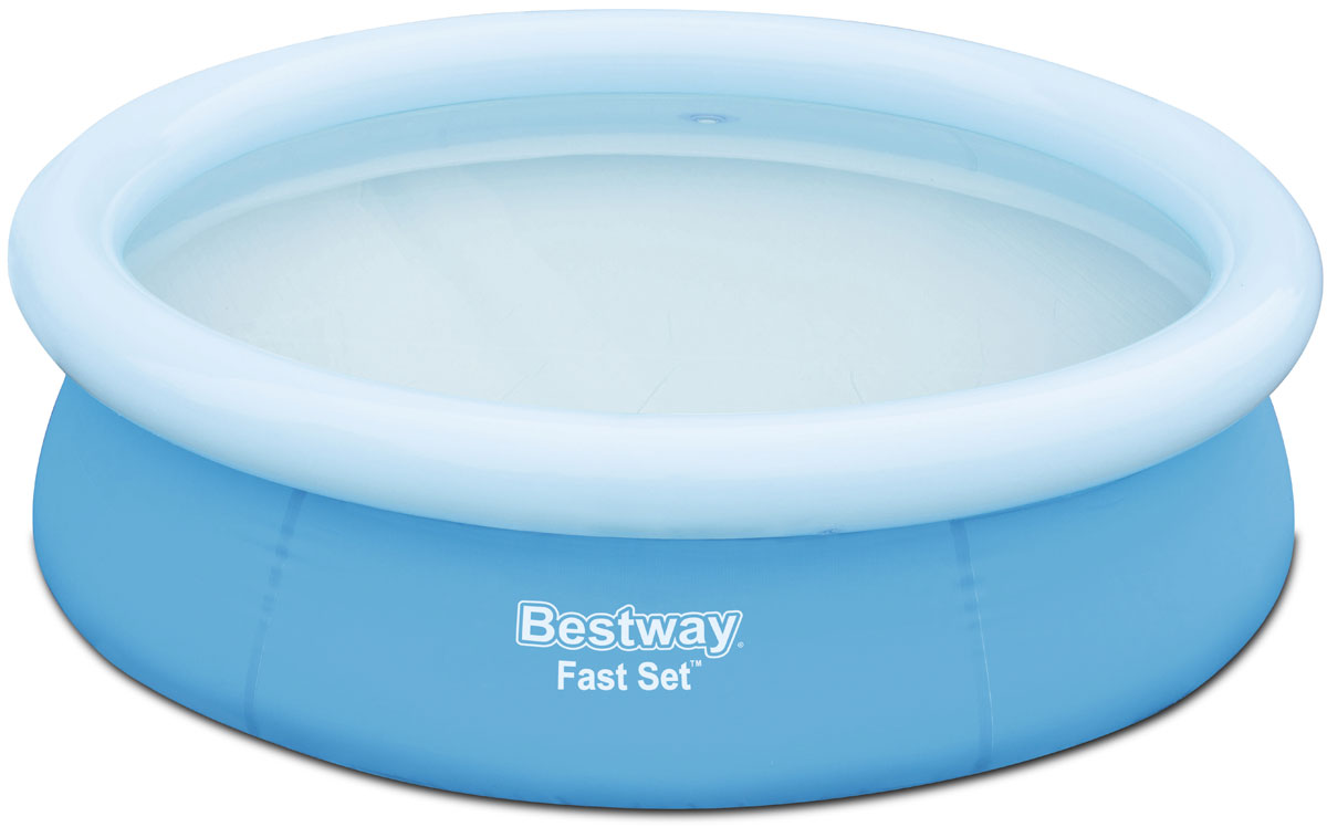 Bestway Бассейн с надувным бортом57252Надувной бассейн изготовлен из полимерных материалов. Не заполняйте бассейн водой больше чем на 80%. Выполнен из высококачественного трехслойного ПВХ: два слоя плотного винила и один - полиэстер для особой прочности. Чаша поддерживается надувным кольцом.Для установки бассейна выберите ровную поверхность, надуйте верхнее кольцо, наполните бассейн водой и наслаждайтесь купанием. Размер: 1,98 х 0,51 м. Объем: 1126 л.