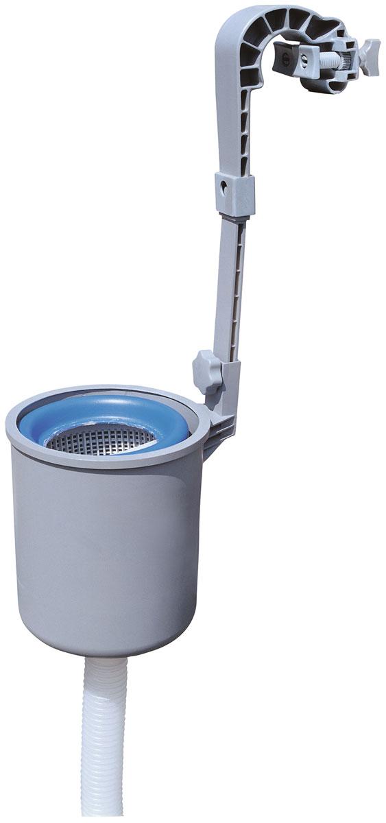 Bestway Мусороуловитель (скиммер)58233Прочный, устойчивый к коррозии пластик. Крепится на стенке бассейна. Подходит для всех видов бассейнов, кроме бассейнов с металлическими стенками. Легко чистится. Подключается к фильтр-насосу. Производительность: 3,028 л/ч.