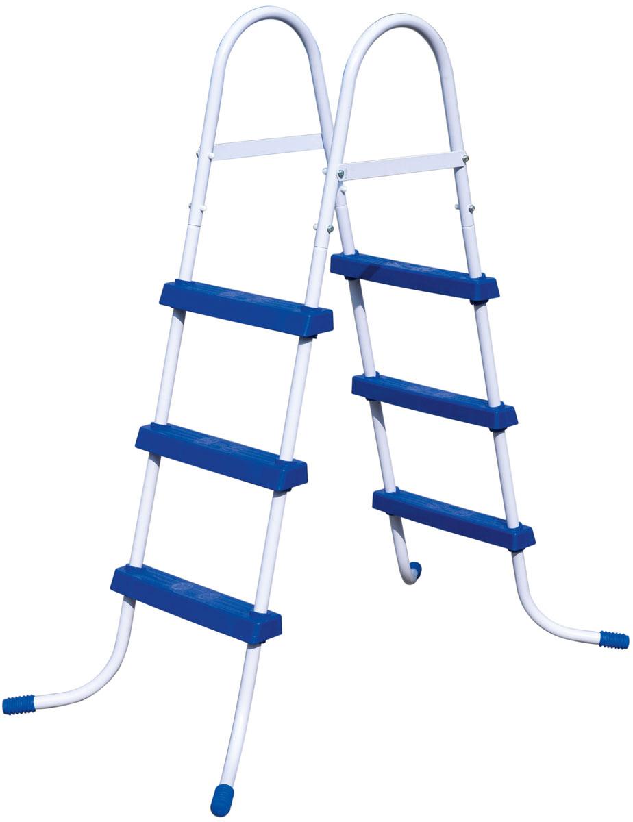 Bestway Лестница для бассейна, высота 91 см58334Лестница для бассейна Bestway выполнена из высококачественного металла, устойчивого к ржавчине. Ступеньки выполнены из прочного пластика с рельефным покрытием, предотвращающим скольжение. Лестница легко собирается, в разобранном виде не занимает много места.Высота лестницы (без учета поручней): 91 см.