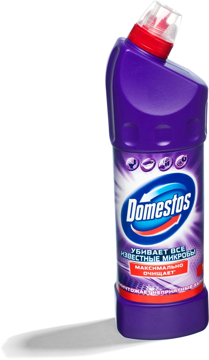 """Универсальное чистящее средство Domestos """"Двойная сила. Свежесть лаванды"""" подходит для  уборки раковин и ванн, кафеля, пола, унитаза, сливов и водостоков на кухне и в ванной. Чистит до  блеска, дезинфицирует и отбеливает. Domestos не только очищает поверхности, но и помогает  бороться со всеми известными микробами - в том числе, вызывающими опасные заболевания,  обеспечивая свежий аромат.  Густой, многофункциональный, экономичный и невероятно эффективный. Среди средств для  туалетов Domestos - бесспорный лидер, благодаря густой формуле и удобной форме бутылки.  Нельзя забывать, что гигиена важна не только в туалете, но и в ванной. Влага и тепло -  идеальные условия для размножения бактерий, грибка, плесени. Регулярное использование  небольшого количества Domestos на мокрой тряпке или губке в ванной убирает мыльной осадок,  темные пятна, дезинфицирует поверхности. Domestos безопасен. При надлежащем использовании Domestos абсолютно безвреден как для  людей, так и для окружающей среды: содержащееся в нем активное дезинфицирующее вещество  сразу после применения распадается на безопасные компоненты.  Состав: менее 5%: гипохлорит натрия, анионные ПАВ, неионогенные ПАВ, мыло, отдушка.   Товар сертифицирован."""