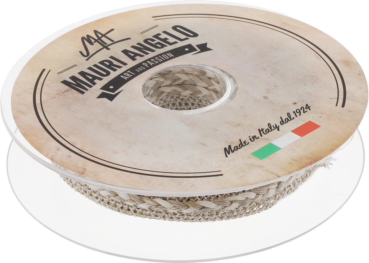 Лента кружевная Mauri Angelo, цвет: серый, белый, 1,3 см х 10 мMR8861/1Декоративная кружевная лента Mauri Angelo - текстильное изделие без тканой основы, в котором ажурный орнамент и изображения образуются в результате переплетения нитей. Кружево применяется для отделки одежды, белья в виде окаймления или вставок, а также в оформлении интерьера, декоративных панно, скатертей, тюлей, покрывал. Главные особенности кружева - воздушность, тонкость, эластичность, узорность.Декоративная кружевная лента Mauri Angelo станет незаменимым элементом в создании рукотворного шедевра. Ширина: 1,3 см.Длина: 10 м.