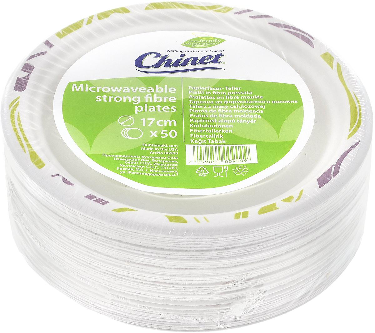 Набор одноразовых тарелок Huhtamaki Chinet, диаметр 17 см, 50 шт набор одноразовых тарелок эврика с пламенным приветом диаметр 19 см 6 шт