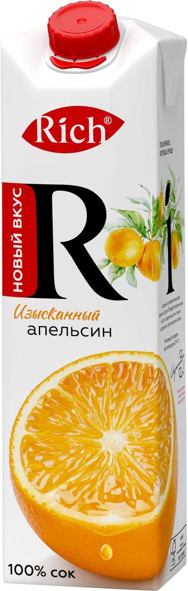 Rich Апельсиновый сок, 1 л сок rich апельсиновый 100