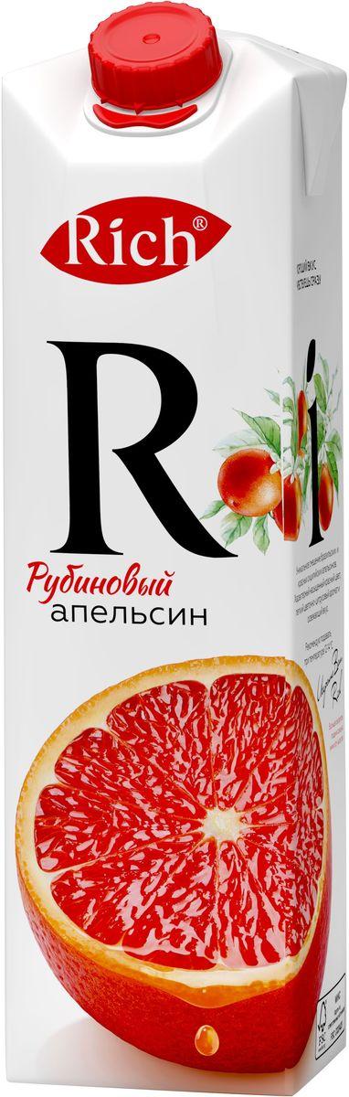 Rich Рубиновый Апельсин нектар, 1 л1606101Уникальное сочетание бразильских и красных сицилийских апельсинов. Характерный насыщенный красный цвет, легкий цветочно-цитрусовый аромат и элегантное послевкусие.Строгий отбор сочных и свежих фруктов, постоянный контроль производства и готовой продукции - составляющие безупречного качества соков и нектаров Rich, высокие стандарты которого всегда соблюдались с момента запуска на российском рынке.Но что действительно отличает продукцию под маркой Rich - это изысканный, многогранный вкус, рождающийся благодаря сочетанию разных сортов одного фрукта в соках и нектарах.
