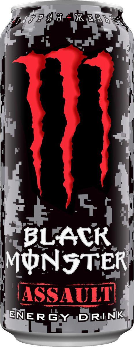 Black Monster Assault энергетический напиток, 0,5 л hipp пюре рыба с овощами с 8 месяцев 125 г
