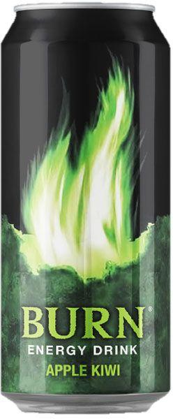 Burn Apple Kiwi энергетический напиток, 0,5 л