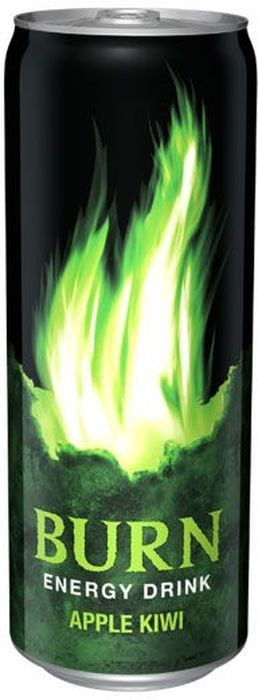 Burn Apple Kiwi энергетический напиток, 0,33 л1588501Burn - это источник энергии для активной жизни 24/7. В состав Burn входят три важных компонента - кофеин, таурин и гуарана, которые помогают снизить усталость, поддерживают работоспособность и концентрацию внимания. Burn - энергетический напиток, который позволяет постоянно находиться в движении, все успевать, быть в курсе самых жарких событий, творить, выдумывать, пробовать. Это энергия в новом формате в любое время от рассвета до рассвета!