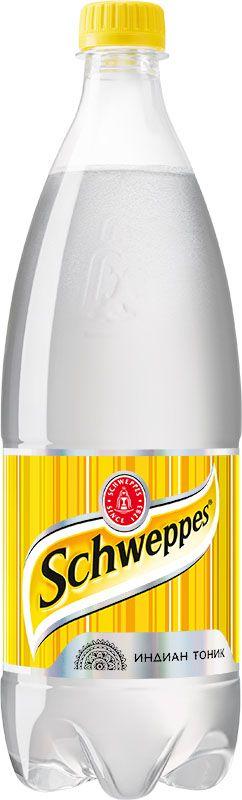 Schweppes Индиан Тоник напиток сильногазированный, 1 л766703Schweppes Индиан Тоник - классический представитель марки, напиток с хинином, изобретённый в период британского правления в колониальной Индии. Хинин – экстракт из коры хинного дерева с сильным горьким вкусом.