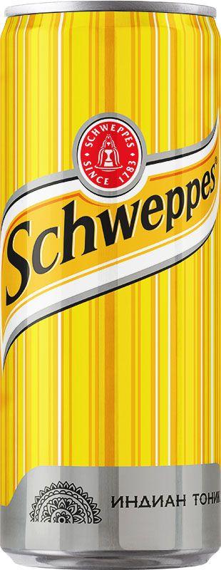 Schweppes Индиан Тоник напиток сильногазированный, 0,33 л schweppes bitter lemon напиток газированный 0 2 л