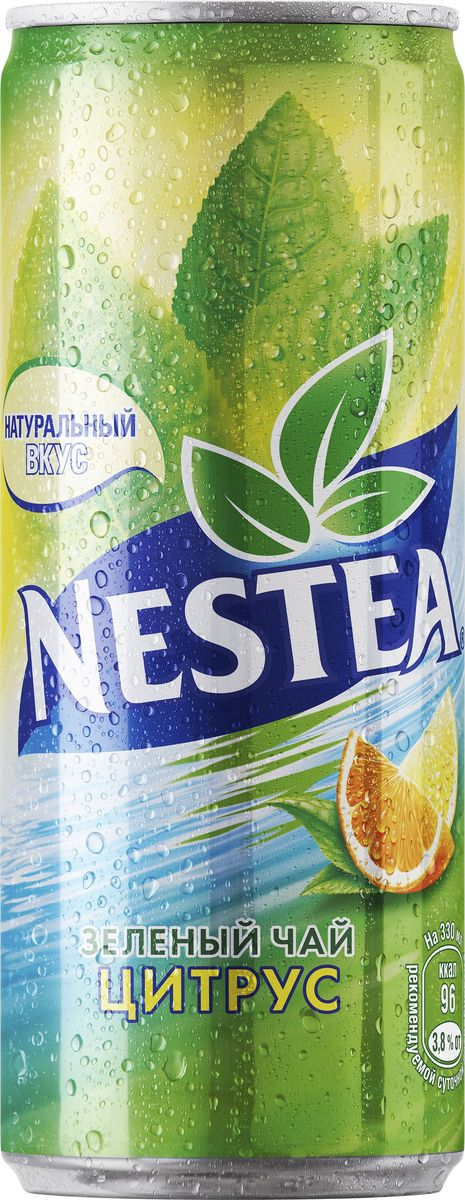 Nestea Цитрус зеленый чай, 0,33 л чай холодный nestea нести зеленый цитрус 1 0л пл бутылка