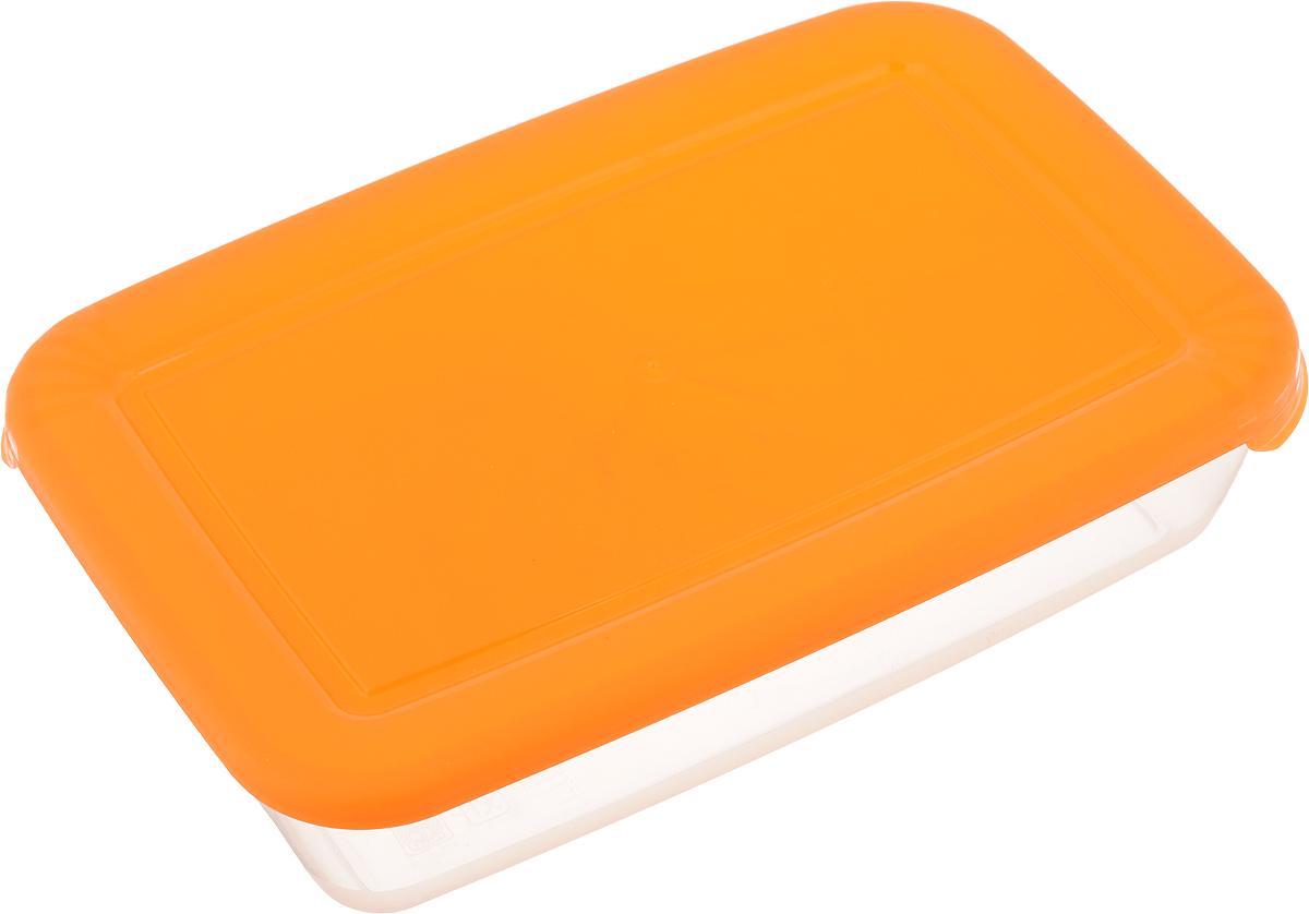 Контейнер для СВЧ Полимербыт Лайт, цвет: оранжевый, 900 мл552_оранжевыйПрямоугольный контейнер для СВЧ Полимербыт Лайт изготовлен из высококачественного полипропилена, устойчивого к высоким температурам (до +120°С). Яркая цветная крышка плотно закрывается, дольше сохраняя продукты свежими и вкусными. Контейнер идеально подходит для хранения пищи, его удобно брать с собой на работу, учебу, пикник или просто использовать для хранения пищи в холодильнике.Можно использовать в микроволновой печи и для заморозки в морозильной камере при минимальной температуре -40°С.Можно мыть в посудомоечной машине.