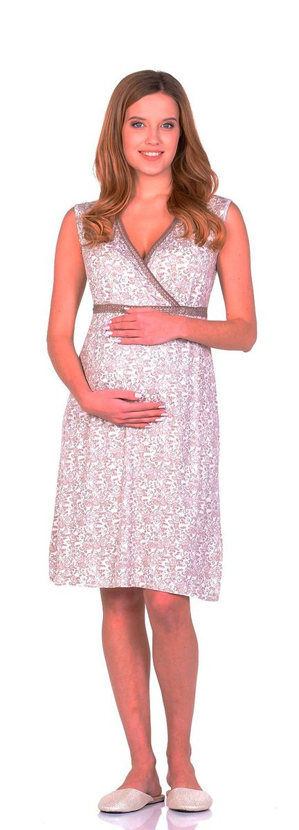 Сорочка женская Nuova Vita Elegante Mamma, цвет: бежевый, кремовый, молочный. 208.7. Размер 52208.7Ночная сорочка Nuova Vita, выполненная из комбинированного материала, необычайно мягкая и приятная на ощупь. Домашняя одежда играет большую роль в гардеробе женщины, ведь каждой женщине хочется даже дома выглядеть привлекательной. Прекрасный вариант домашней одежды эта замечательная сорочка. В такой сорочке каждая женщина будет чувствовать себя уютно и спокойно!