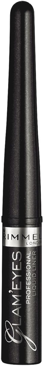 Rimmel Жидкая подводка для глаз Glam'eyes Professional Liquid Liner, тон № 001, 3,5 мл тушь для ресниц rimmel volume shake 001 цвет 001 variant hex name 000000