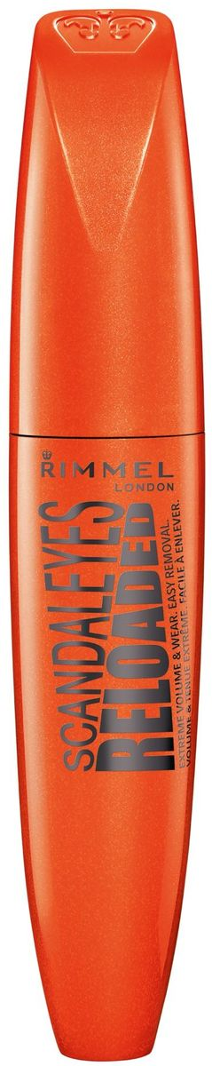 Rimmel Тушь для ресниц Scandaleyes Reloaded Extreme volume & wear mascara, тон № 001, 12 мл тушь для ресниц rimmel volume shake 001 цвет 001 variant hex name 000000