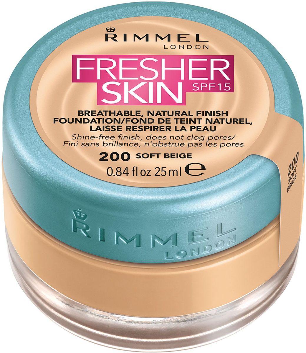 Rimmel Тональный крем Fresher Skin, тон № 200, 25 мл rimmel тональный крем fresher skin 201 25 мл