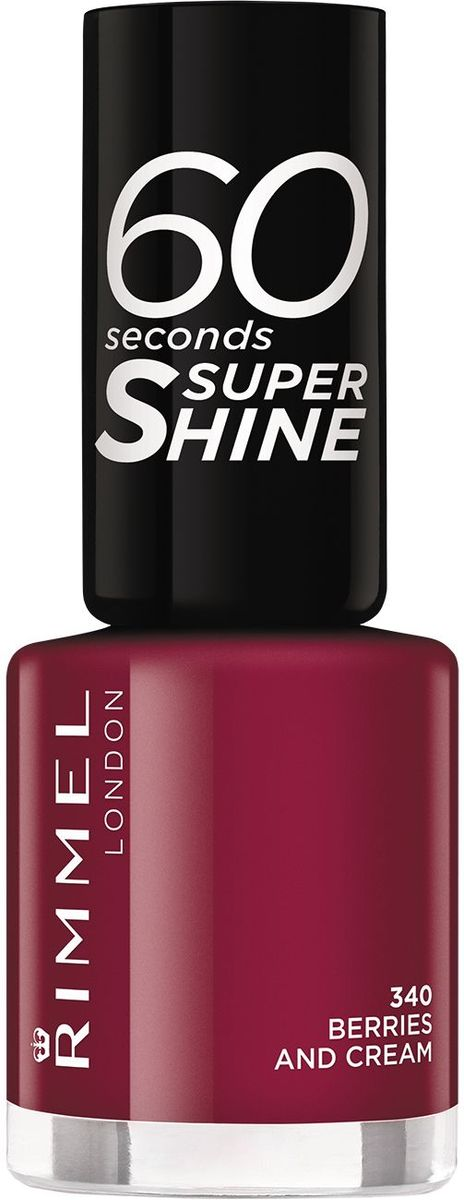"Rimmel Лак для ногтей ""60 Seconds Super Shine"", тон № 340, 8 мл"