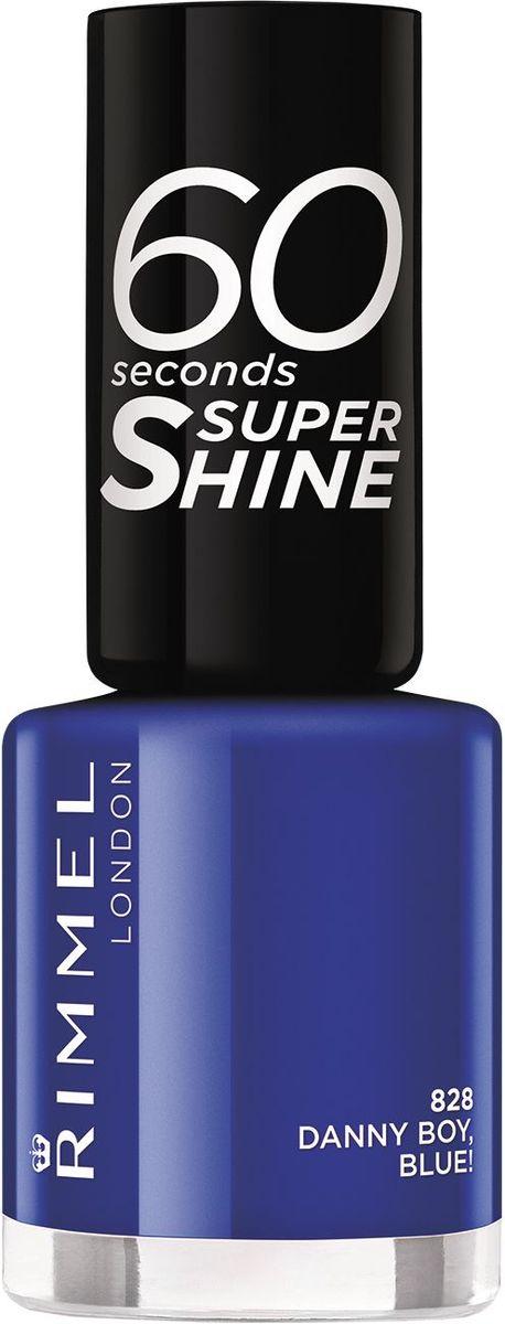 Rimmel Лак для ногтей 60 Seconds Super Shine, тон № 828 (danny boy, blue), 8 мл34778209828Формула лака для ногтей 60 seconds Super Shine с аргановым и оливковым маслами для интенсивного ухода за ногтямиТехнология 3-в-1: базовое покрытие, насыщенный цвет и верхнее покрытие - одним движением кисточки!Удобная широкая кисточка Xpress Brush™ для удобного нанесения лакаОдна маленькая бутылочка дает суперблеск и стойкий цвет до 10 дней!Высыхает за 60 секунд!
