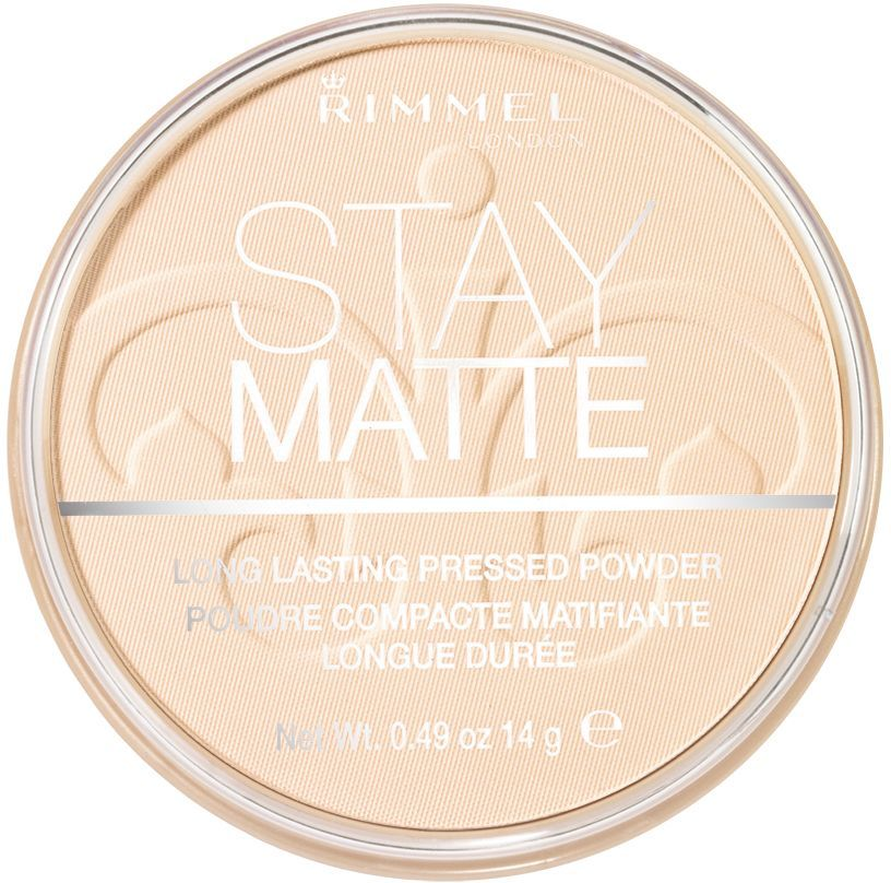 Rimmel Cпресованная пудра Stay Matte Re-pack, тон № 001, 14 г159064Контроль над блеском до 5 часов.