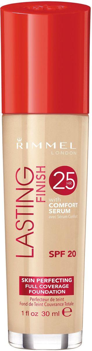 Rimmel Тональный крем Lasting Finish Comfort Found, тон № 100, 30 мл34990297100Безупречный макияж до 25 часов. Формула с активными ингредиентами: минеральный комплекс заряжает энергией уставшую кожу, а сыворотка Comfort с витамином Е и гиалуроновой кислотой увлажняет кожу. Не тускнеет, не смазывается, не боится стрессов. Солнцезащитный фактор SPF 20.