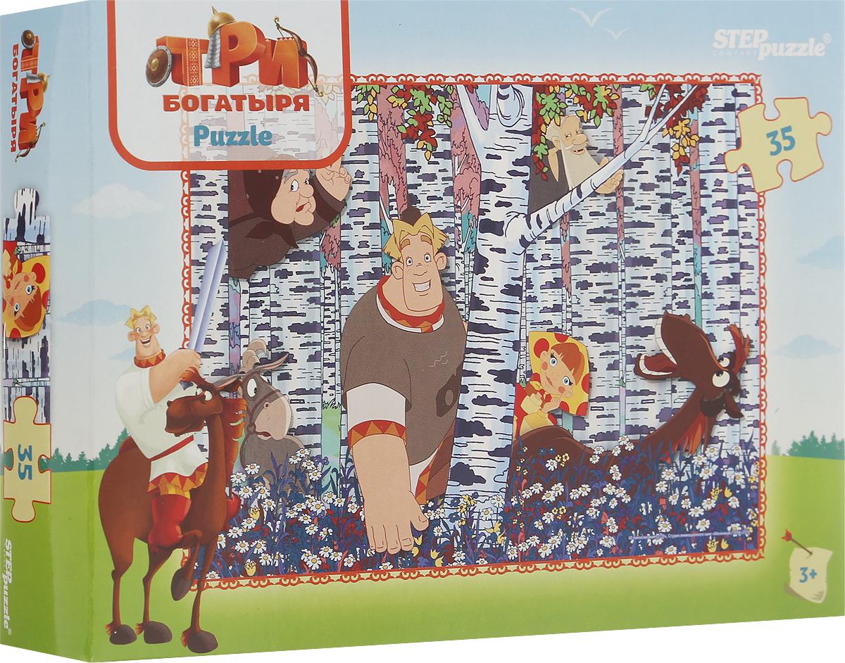 Step Puzzle Пазл для малышей Три богатыря 91149, Степ Пазл ЗАО (Россия)