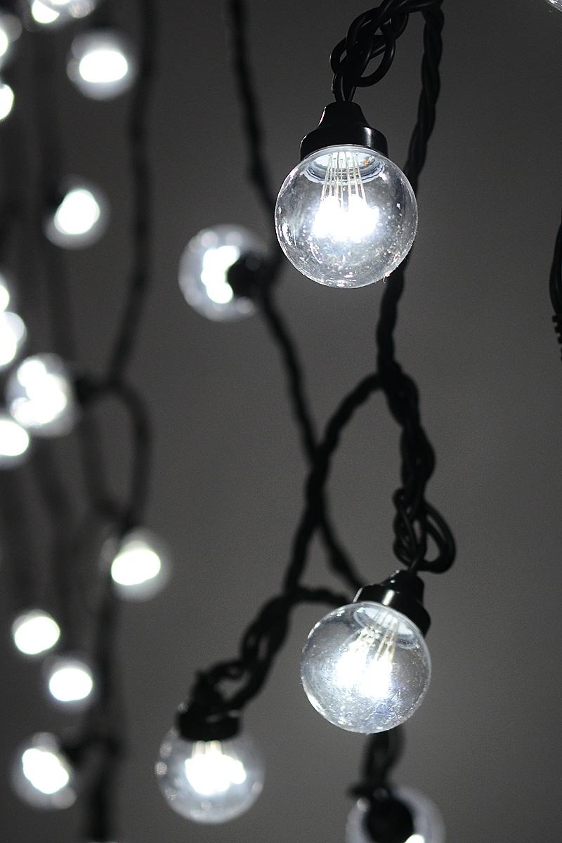 Гирлянда электрическая Neon-Night LED Galaxy Bulb String, 30 ламп х 6 светодиодов, 10 м331-325Новогодняя электрическая гирлянда LED Galaxy Bulb String состоит из 30 лампочек диаметром 45 мм, в каждой из которой есть 6 диодов. Благодаря своей степени защиты гирлянда может быть использована как в помещении, так и на улице, даже в сильный мороз.Откройте для себя удивительный мир сказок и грез. Почувствуйте волшебные минуты ожидания праздника, создайте новогоднее настроение вашим дорогим и близким.Напряжение: 220 V.Мощность: 30 Вт.Цвет и материал кабеля: черный каучук.Цвет лампочек: белый.Общая длина: 10 м.Количество прозрачных микро ламп: 30 ламп по 6 светодиодов в каждой.Режим сечения: постоянное свечение.Температурный режим: от -25 до +50°С.Срок службы: 50000 часов.