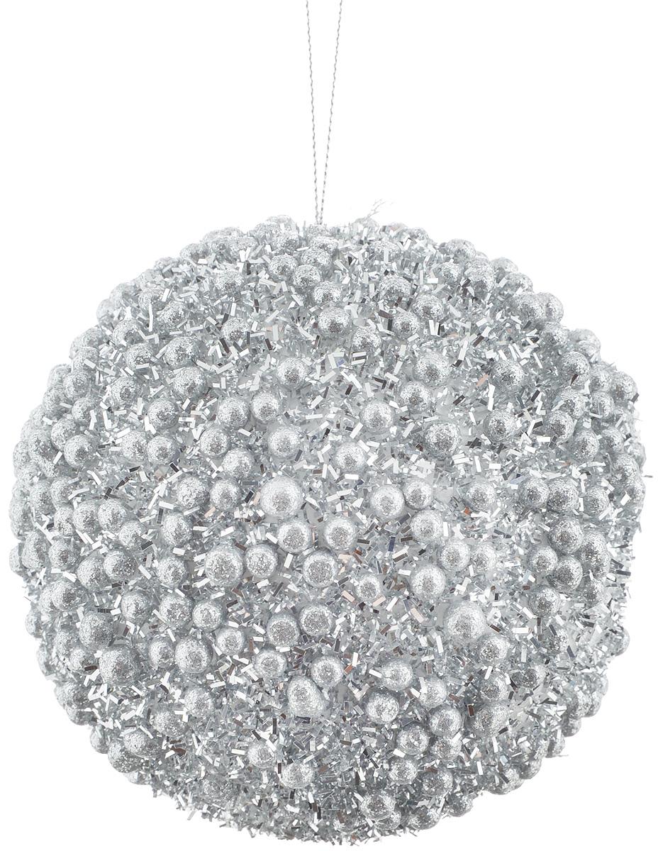 Украшение новогоднее подвесное Lovemark Шар. Жемчужный, цвет: серебристый, диаметр 10 смWT13008SНовогоднее подвесное украшение Lovemark Шар. Жемчужный выполнено из пластика. С помощью специальной петельки украшение можно повесить в любом понравившемся вам месте. Но, конечно, удачнее всего оно будет смотреться на праздничной елке.Елочная игрушка - символ Нового года. Она несет в себе волшебство и красоту праздника. Создайте в своем доме атмосферу веселья и радости, украшая новогоднюю елку нарядными игрушками, которые будут из года в год накапливать теплоту воспоминаний.
