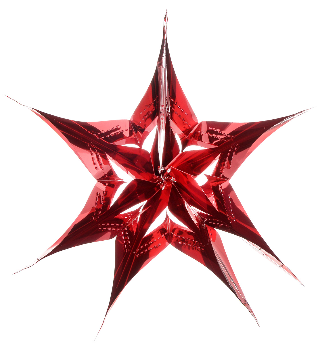 Украшение новогоднее подвесное Winter Wings Звезда, цвет: красный, диаметр 30 смN09174_красныйНовогоднее украшение Winter Wings Звезда прекрасно подойдет для декора дома и праздничной елки. Изделие выполнено из ПВХ. С помощью специальной петельки украшение можно повесить в любом понравившемся вам месте. Легко складывается и раскладывается.Новогодние украшения несут в себе волшебство и красоту праздника. Они помогут вам украсить дом к предстоящим праздникам и оживить интерьер по вашему вкусу. Создайте в доме атмосферу тепла, веселья и радости, украшая его всей семьей.