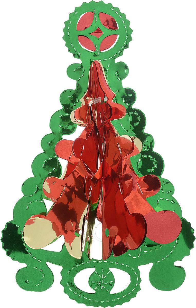 Украшение новогоднее подвесное Winter Wings Елочка, цвет: красный, зеленый, золотистый, высота 23 смN09184_красный, зеленый, золотистыйНовогоднее украшение Winter Wings Елочка прекрасно подойдет для декора дома и праздничной елки. Изделие выполнено из ПВХ. С помощью специальной петельки украшение можно повесить в любом понравившемся вам месте. Легко складывается и раскладывается.Новогодние украшения несут в себе волшебство и красоту праздника. Они помогут вам украсить дом к предстоящим праздникам и оживить интерьер по вашему вкусу. Создайте в доме атмосферу тепла, веселья и радости, украшая его всей семьей.Размер украшения: 15 х 11 см.Высота украшения: 23 см.