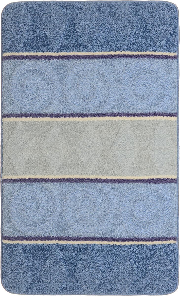 Коврик для ванной Urgaz Cliona, ароматизированный, цвет: голубой, белый, синий, 60 x 100 смУКВ-1003_синийКовер Urgaz Cliona выполнен из полипропилена, ворс из полиэстера. Он обладает хорошими показателями теплостойкости и шумоизоляции. Является гиппоалергенным. За счет невысокого ворса легко чистить. Вам придется по душе широкая гамма цветов и возможность гармонично оформить интерьер. Практичный и устойчивый к износу ворс - от постоянного хождения не истирается, не накапливает статическое электричество. Структура волокна в полипропиленовых моделях гладкая, поэтому грязь не может выесться, на ворсе, она скапливается с трудом. Полипропилен не впитывает влагу, отталкивает водянистые пятна.