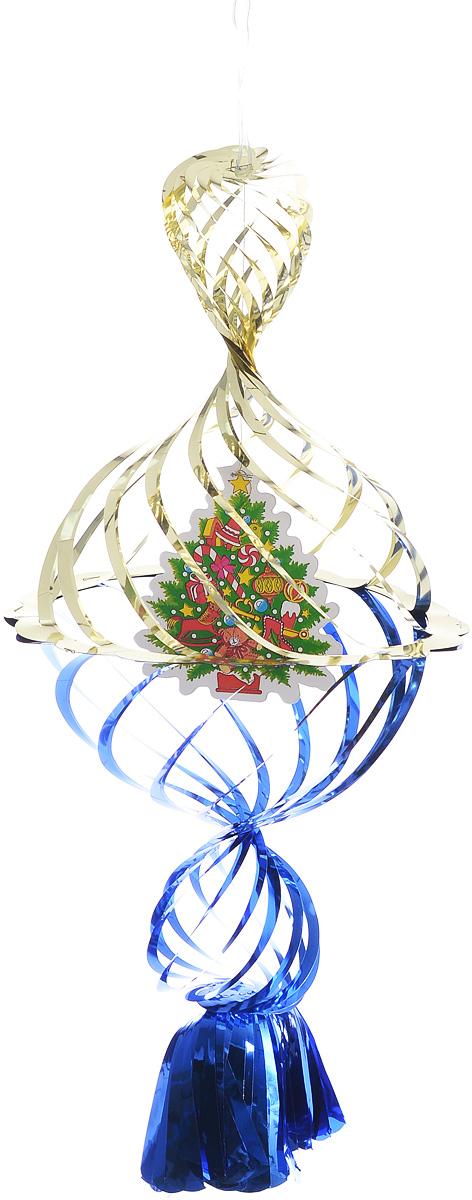 Украшение новогоднее подвесное Winter Wings Елочка, цвет: синий, золотистый, 40 х 20 х 20 смN09176_синий, золотистый, зеленыйНовогоднее украшение Winter Wings Елочка прекрасно подойдет для декора дома и праздничной елки. Изделие выполнено из ПВХ. С помощью специальной петельки украшение можно повесить в любом понравившемся вам месте. Легко складывается и раскладывается.Новогодние украшения несут в себе волшебство и красоту праздника. Они помогут вам украсить дом к предстоящим праздникам и оживить интерьер по вашему вкусу. Создайте в доме атмосферу тепла, веселья и радости, украшая его всей семьей.