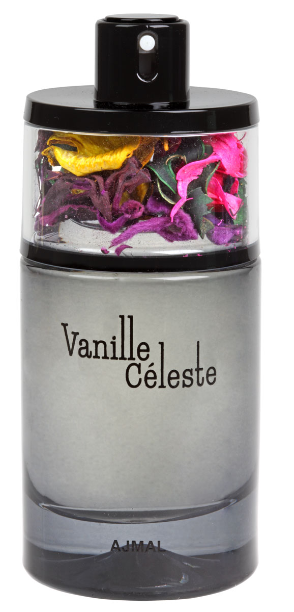 Ajmal Vanille Celeste Парфюмерная вода женская, 75 мл9145Vanille Celeste (пер. «небесная ваниль»)Vanille Celeste - это мгновенно узнаваемый аромат для гурманов, в котором на первый план выходят терпкие ноты ванили, создавая теплую сладкую, но не приторную композицию. Сердце аромата формируют насыщенные цветочные эссенции: чувственный жасмин, темпераментная орхидея и цветок померанцевого дерева. Они своей яркостью и глубиной раскрывают новые грани классической ванили. Подчеркивают полноту композиции обволакивающие древесные ноты кедра и груши. Vanille Celeste – это не просто аромат-каприз, это настоящая феерия чувств и эмоций!Ноты: мандарин, груша, цветок померанцевого дерева, жасмин, орхидея,ваниль, кедр, пачули.Флакон: украшен попурри из ингредиентов аромата.