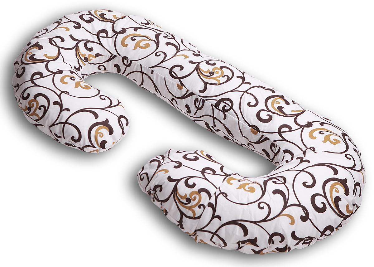 Body Pillow Чехол для подушки для беременных С-образный цвет бежевый золотойС75х140 беж-золСъемная наволочка на молнии бежевого цвета с шоколадно-золотистым узором Вензеля изплотного поликоттона, которая будет очень эффектно смотреться в любом интерьере.Чехол для подушки для беременных предназначен для подушек для беременных и кормящих мам. Чехол не выгорает, не растягивается, не садится после стирки иабсолютно безопасен для вашего здоровья и здоровья малыша.Способ ухода: рекомендуется машинная стирка в режиме деликатная стирка. Перед использованием чехол рекомендуется постирать.Состав: 50% хлопок, 50% полиэстер.
