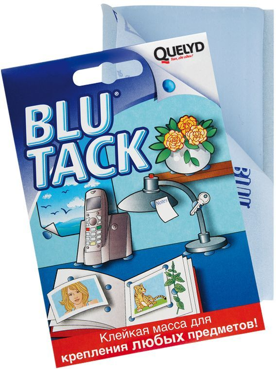 Клейкая масса Quelyd Blu Tack, 0,05 кг30506698Quelyd Blu Tack -это клейкаямассадлякрепленияразличныхпредметов. Идеальноподходитдля: Прикрепленияплакатов,рисунков,фотографий,декоративных материалов,презентаций,карт,сообщений. Удерживаниянаместеикреплениятелефонаисчетноймашинкик столу,колоноккполу,горшков,различныхпредметовкполкам. Созданияикреплениячастеймакетов. Подходитдлякрепленияклюбымповерхностям:виниловыеобои, окрашенныеповерхности,дерево,стекло,металл,пластмасса,фарфор. Преимущество -Повторноеиспользованиедобесконечности. -Чистотаибезопасность. -Широчайшаясфераприменения:тысячаиспользований. -Легкоудаляется,неоставляетследов. - Позволяетприкреплятьиудерживатьмножествопредметов,неделаядырокнинаповерхности,нина прикрепляемомматериале.Товар сертифицирован.