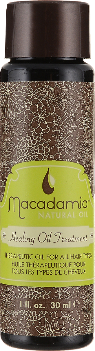 Macadamia Natural Oil Масло для волос Healing oil treatement, восстанавливающее, 30 мл спрей macadamia healing oil spray объем 60 мл