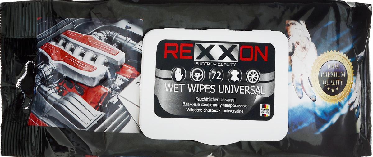 Салфетки влажные Rexxon, универсальные, 72 шт