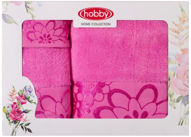 Набор полотенец Hobby Home Collection Dora, цвет: розовый, 3 шт