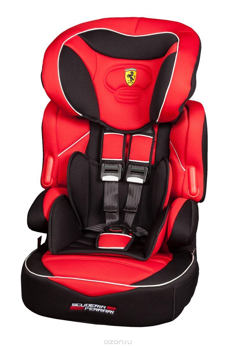 Nania Автокресло Beline SP Ferrari Corsa от 9 до 36 кг589756Автокресло Nania Beline SP относится к группе 1/2/3, от 8 месяцев до 12 лет (9-36 кг). Соответствует стандартам ECE R44/04.Серия FERRARI - фирменные цвета итальянского спорткара в сочетании с автокреслом серии LUXE. Автокресло гарантирует европейское качество и обеспечивает безопасность пассажира.Beline SP - это два кресла в одном. Оно охватывает все возрастные группы в возрасте от примерно 8 месяцев до 12 лет (когда ребенка в автомобиле уже можно перевозить без специального удерживающего устройства) благодаря регулируемому по высоте подголовнику. Когда ребенок подрастет, спинку автокресла можно отстегнуть и использовать только бустер.Автокресло Beline SP было разработано согласно самым жестким требованиям безопасности, а также учитывая ортопедические факторы: мягкая, приятная на ощупь обивка и анатомическая форма. Ваш ребенок будет чувствовать себя комфортно даже в дальних поездках.Широкий мягкий подголовник, спинка и подлокотники обеспечат дополнительный комфорт и безопасность маленького пассажира даже в случае бокового столкновения. Высоту подголовника можно регулировать по высоте, кресло растет вместе с вашим ребенком. Все тканевые части легко снимаются и стираются.