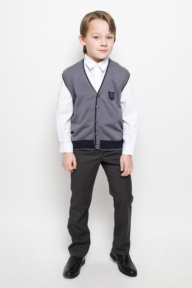 Жилет для мальчика Nota Bene, цвет: темно-серый. CYV16002A. Размер 140 жилет nota bene nota bene no030ebbxql9
