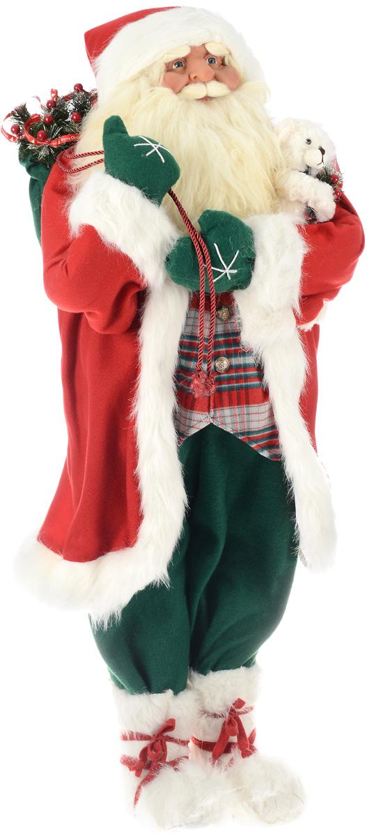 Фигура новогодняя ESTRO Дед Мороз с мешком и медвежонком, высота 1,2 мC21-481000Декоративная фигура ESTRO Дед Мороз с мешком имедвежонком изготовлена из высококачественныхматериалов в оригинальном стиле. Фигурка выполнена ввиде куклы Деда Мороза с мешком подарков имедвежонком.Уютная и милая интерьерная игрушка предназначенадля взрослых и детей, для игр и украшения новогоднейелки, да и просто, для создания праздничной атмосферыв интерьере! Фигура прекрасно украсит ваш дом к празднику, а востальные дни с ней с удовольствием будут играть дети.Оригинальный дизайн и красочное исполнение создадутпраздничное настроение. Фигура создана вручную, неповторима и оригинальна. Порадуйте своих друзей и близких этим замечательным подарком!