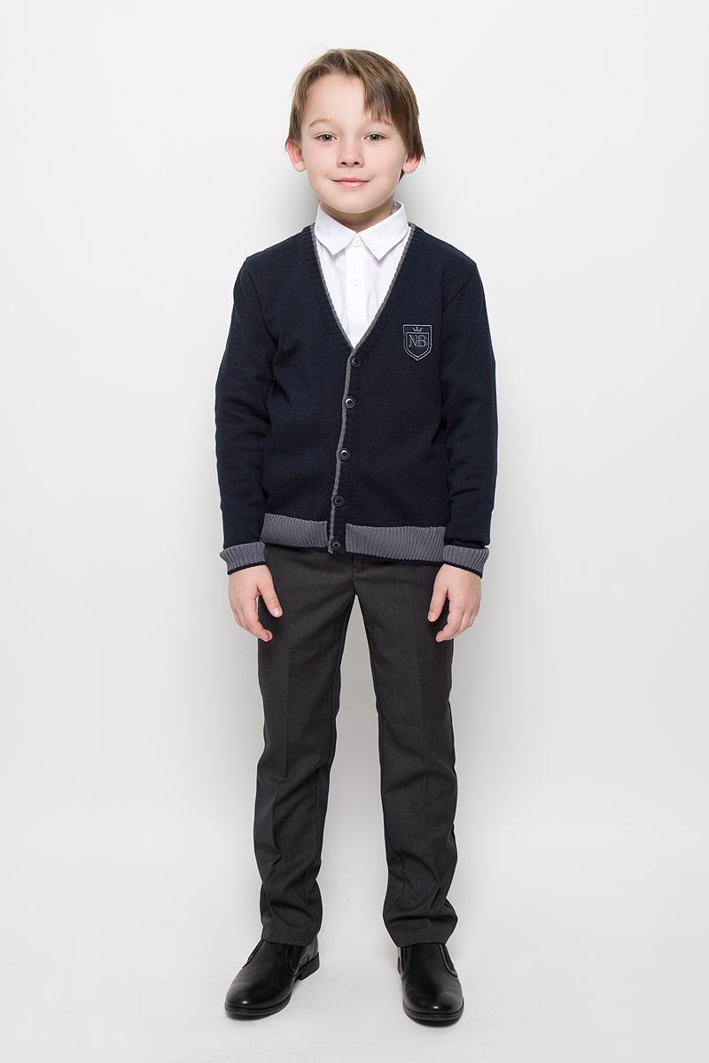 Кардиган для мальчика Nota Bene, цвет: темно-синий. CYC16002B. Размер 146 платье tutto bene tutto bene tu009ewzwn18